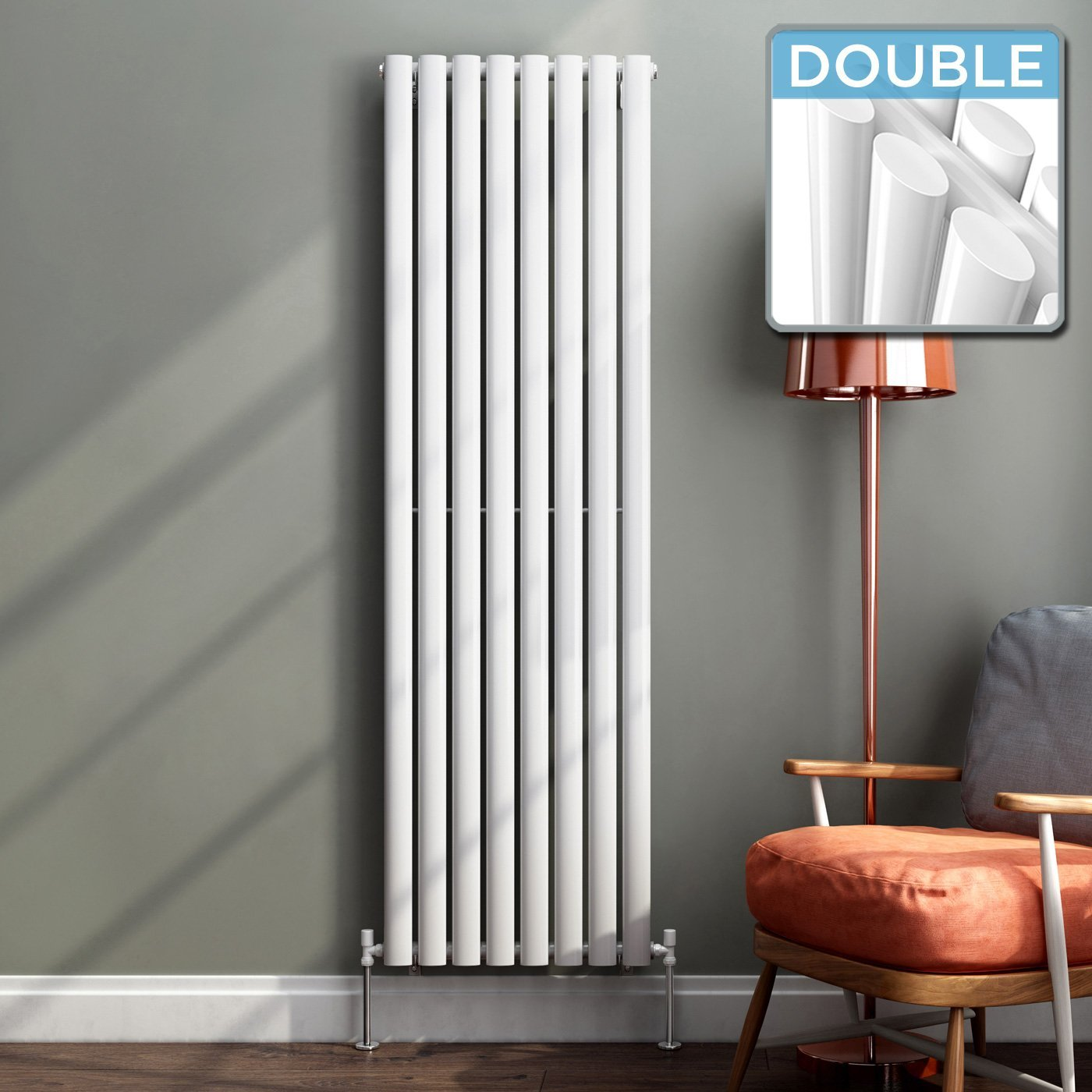 iBathUK 1600 x 480 mm Vertical Column Radiator